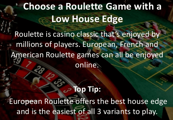 European Roulette offers the best house edge